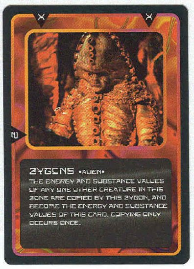 Doctor Who CCG Zygons Uncommon Black Border Game Card
