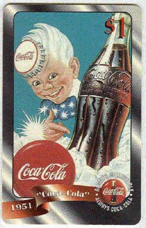 Coca Cola Sprint Fon 96 #48 $1 Phone Card