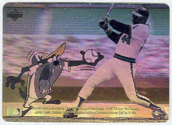 Comic Ball Series 2 Hologram Card Reggie Jackson, Taz