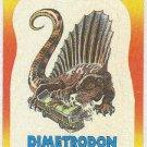 Dinosaurs Attack #3 Dimetrodon Sticker Trading Card