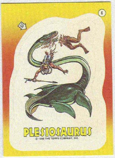 Dinosaurs Attack #6 Plesiosaurus Sticker Trading Card