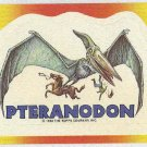 Dinosaurs Attack #7 Pteranodon Sticker Trading Card