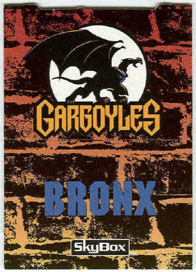 Gargoyles 1995 #P5 Pop-Up Trading Card Bronx