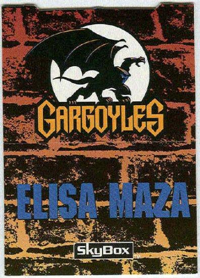 Gargoyles 1995 #P7 Pop-Up Trading Card Elisa Maza
