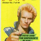 Dune 1984 Sticker Card #7 Feyd And The Emperor's Blade