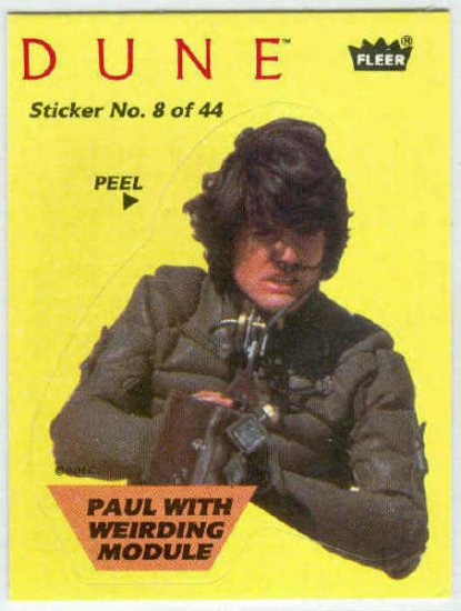 Dune 1984 Sticker #8 Chase Card Paul With Weirding Module
