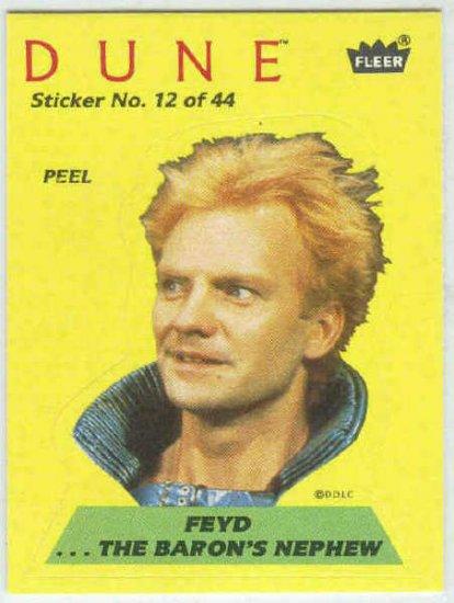 Dune 1984 Sticker #12 Chase Card Feyd The Baron's Nephew