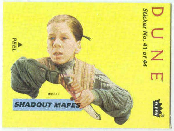 Dune 1984 Sticker #41 Chase Trading Card Shadout Mapes
