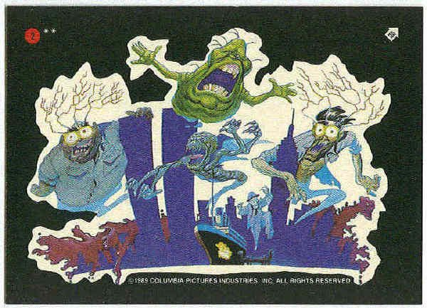 Ghostbusters 1989 Sticker #2 Chase Trading Card