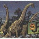 Jurassic Park Gold Art #9 Chase Card Brachiosaur On Parade