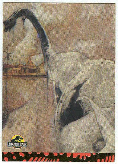 Jurassic Park Gold Art #10 Chase Card Brachiosaur Break-Out