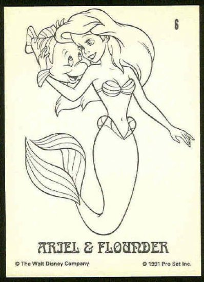 Little Mermaid 1991 #6 Color In Trading Card