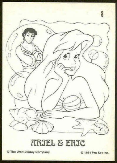 Little Mermaid 1991 #8 Color In Trading Card