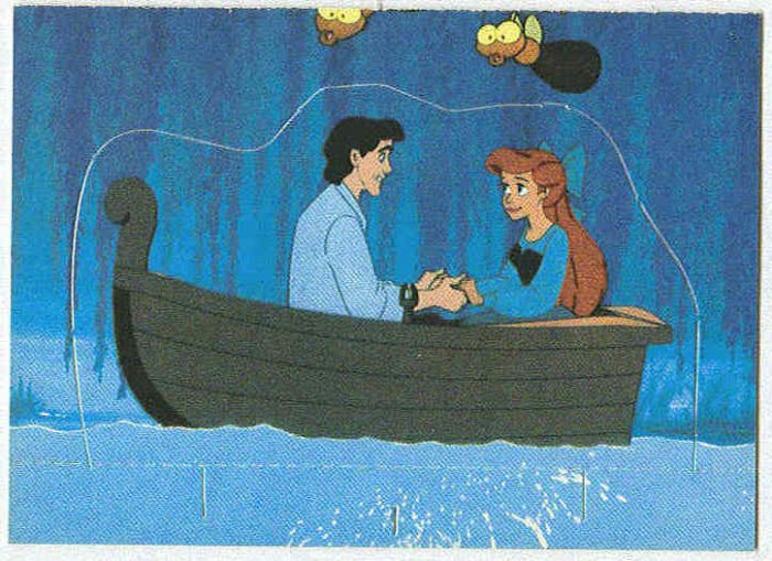 Little Mermaid 1991 Stand Up #8 Trading Card