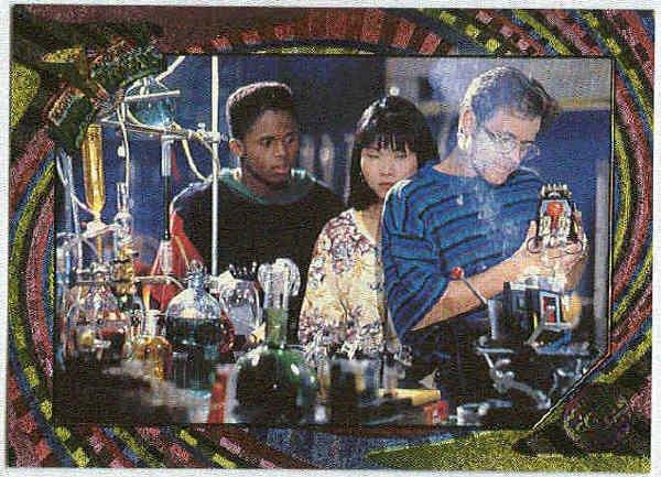 Power Rangers Series 2 #91 Rainbow Power Foil Genius At Work