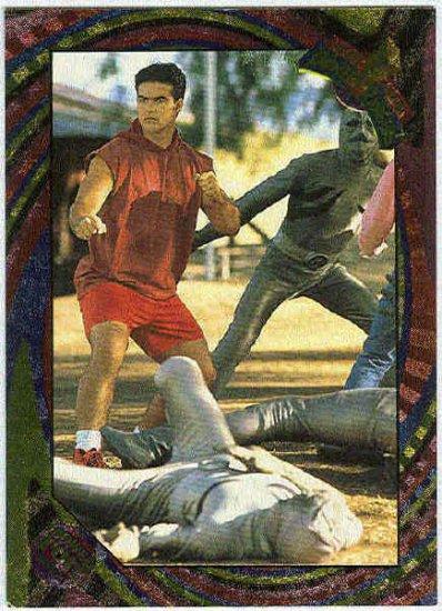 Power Rangers Series 2 #101 Rainbow Foil Card Power Punch