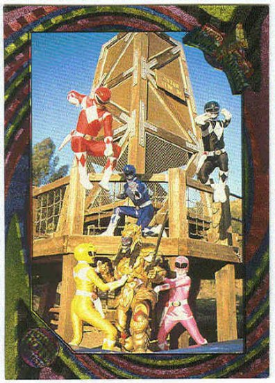 Power Rangers Series 2 #104 Rainbow Foil Rescue Time