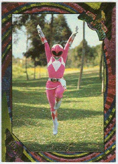 Power Rangers Series 2 #120 Rainbow Foil The Pink Ranger