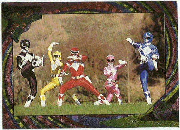 Power Rangers Series 2 #143 Rainbow Power Foil Super Heroes