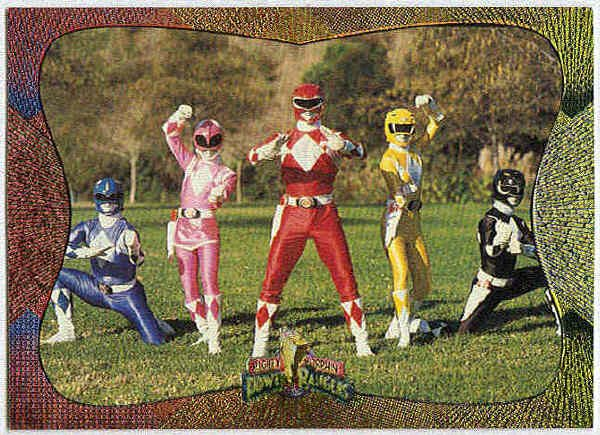 Power Rangers Series 2 #107 Foil Card Go Go Power Rangers
