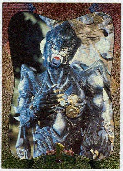 Power Rangers Series 2 #114 Power Foil Parallel Card Baboo