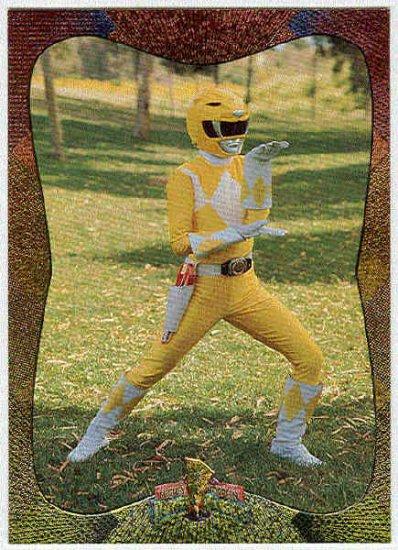 Power Rangers Series 2 #118 Power Foil The Yellow Ranger