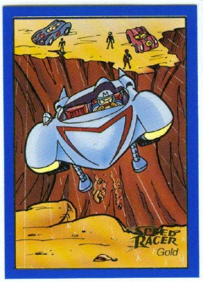 Speed Racer #05 Gold Foil Card The Most Dangerous Race