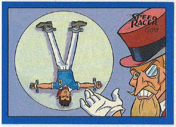 Speed Racer #21 Gold Foil Card The Terrifying Gambler