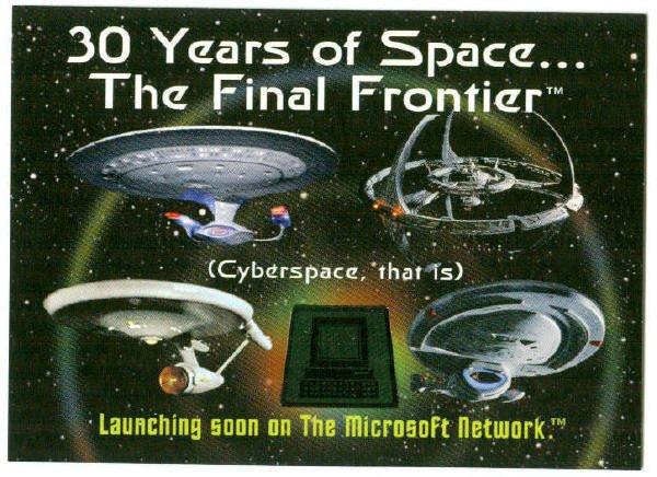 Star Trek 30th Anniversary Phase 2 Web Promo Trading Card