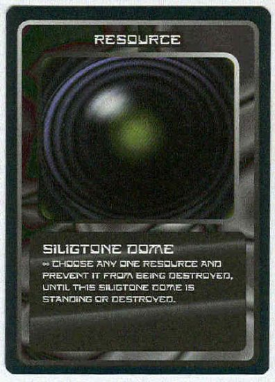 Doctor Who CCG Siligtone Dome Uncommon Game Card