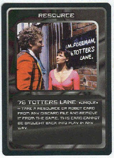 Doctor Who CCG 76 Totters Lane Uncommon BB Game Card