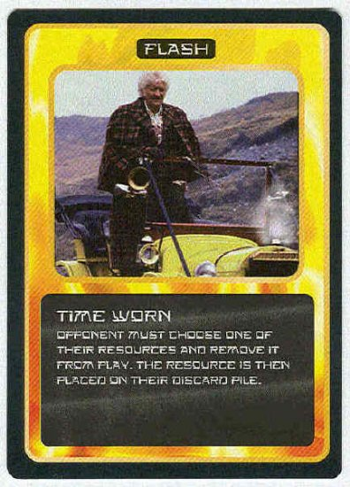 Doctor Who CCG Time Worn Uncommon Game Trading Card