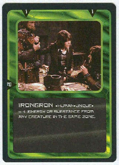 Doctor Who CCG Irongron Uncommon Game Trading Card