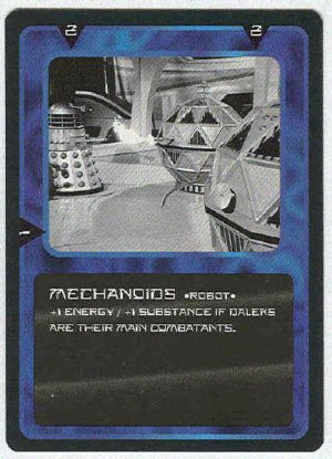 Doctor Who CCG Mechanoids Uncommon Game Trading Card