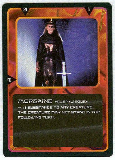 Doctor Who CCG Morgaine Uncommon Black Border Game Card