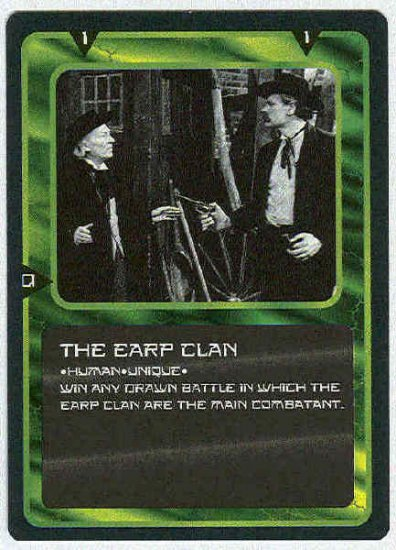 Doctor Who CCG The Earp Clan Uncommon Game Card
