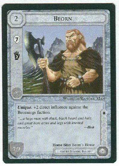 Middle Earth Beorn Wizards Limited Fixed Game Card