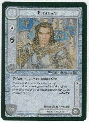 Middle Earth Elladan Wizards Limited Fixed Game Card