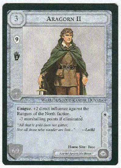 Middle Earth Aragorn II Wizards Limited Fixed Game Card