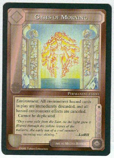 Middle Earth Gates Of Morning Wizards Fixed Game Card