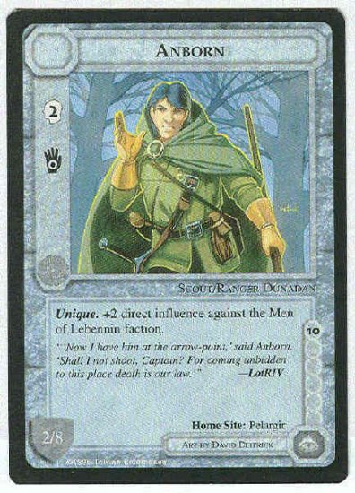 Middle Earth Anborn Wizards Limited Uncommon Game Card