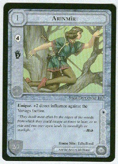 Middle Earth Arinmir Wizards Limited Uncommon Game Card