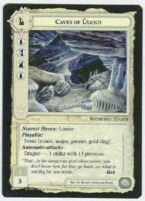 Middle Earth Caves Of Ulund Wizards Uncommon Game Card