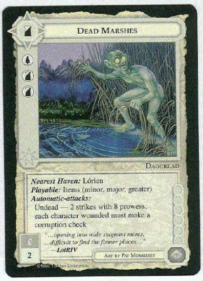 Middle Earth Dead Marshes Wizards Uncommon Game Card