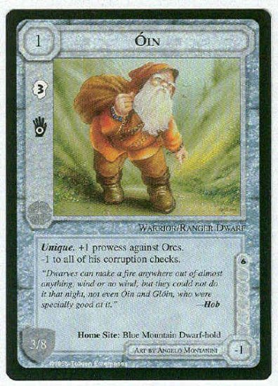 Middle Earth Oin Wizards Limited Uncommon Game Card