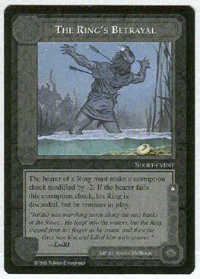 Middle Earth The Ring's Betrayal Uncommon Game Card