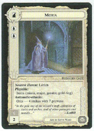 Middle Earth Moria Wizards Limited Fixed Game Card