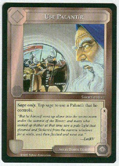 Middle Earth Use Palantir Wizards Uncommon Game Card