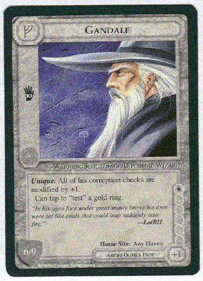 Middle Earth Gandalf Wizards Limited Fixed Game Card