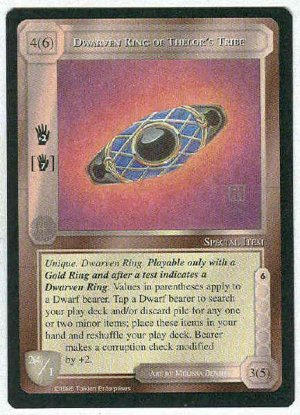 Middle Earth Dwarven Ring Of Thelor's Tribe Uncommon Card